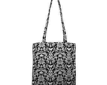 Bag in black and white pattern