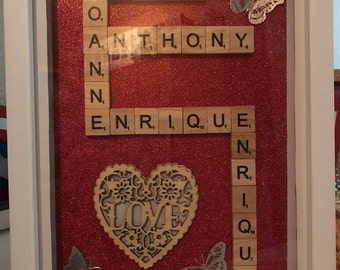 Personalised Scrabble Frame, Custom Made