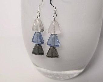 Glass Ombré Earrings || Storm ||
