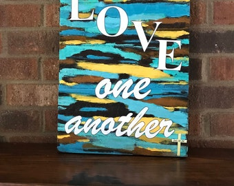 Wall decor sign Love One Another