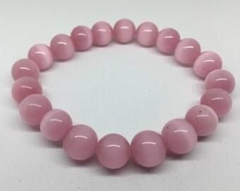 Pink Fog Italian Glass Bracelet