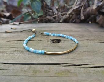 Delicate blue bracelet