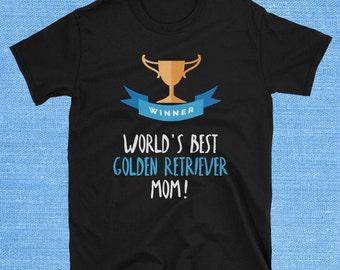 Golden Retriever T Shirt, Golden Retriever Collectibles, Golden Retriever Shirt, Golden Retriever Mom, Golden Retriever Tshirt