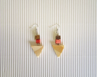 Wooden Earrings Triangle