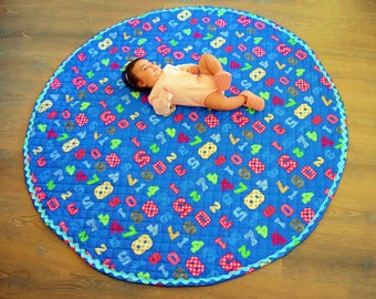 Playmat | Baby Playmat | Round Playmat | Baby Girl Gifts | Baby Boy Gifts | Baby Gifts | Nursery Decor | Birthday Gifts | Baby Shower Gift