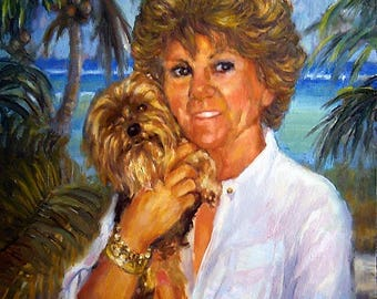 Pet Portraits, Original Painting in Oil