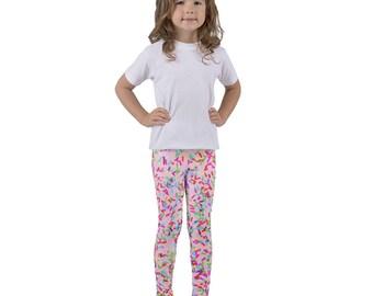 Sprinkles Kid's leggings, Light Pink Leggings, Toddler Leggings, Sprinkles Leggings, Candy Leggings, Sprinkle Print, Cupcake and Ice Cream