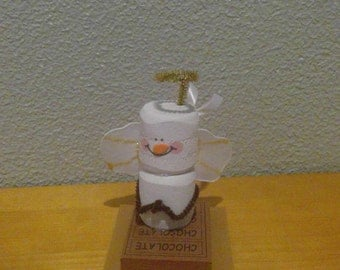 Handmade Christmas Ornament- S'mores Marshmallow Angel