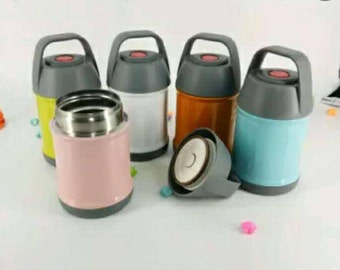 Stainless Steel Kid-friendly, Mommy-love Lunch Thermos with Easy-to-open Handle