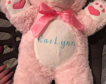 Valentine or Easter Bear with name on it
