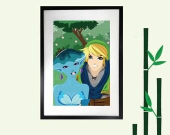 Wall Art, Legend of Zelda Wall Decor, Art Print, Art, Art Prints, Large Art Prints, Contemporary Art, Modern Wall Art, Zelda, majoras mask
