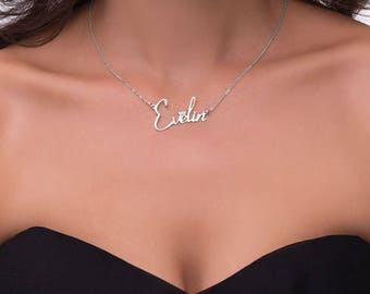 Custom Name Necklace - Personalized Name Necklace - Nameplate Necklace - Silver Name Necklace - Personalized Jewelry - Personalized Gift