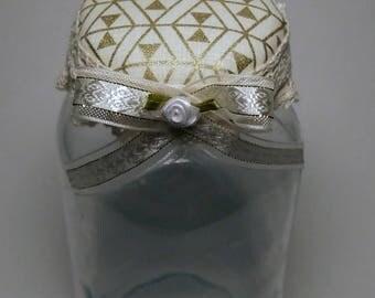 Gold Bow tie Decorative Jar (Large)