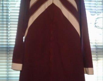 Vintage Vassarette Velvelour Robe Lounger Size Medium Magenta Zip Front