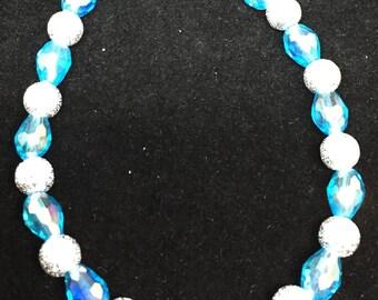 Sky Blue and Silver bracelet