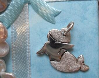 Sea Maiden pendant 925 sterling silver, Mermaid Molly 6, Fly, sea, ocean, fish, whale, cute, cute, manga
