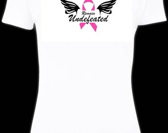 Remain Undefeated ~ Breast Cancer Survivors T-Shirt