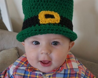 Leprechaun Hat, Top hat St. Patrick's Day, Green Top Hat, Baby Photo Prop