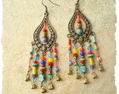 Boho Gypsy Colorful Earrings, Bohemian Dangle Earrings, Modern Hippie Earrings, Boho Fashion, Boho Style Me, Kaye Kraus