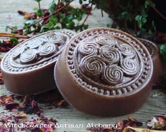 "OLD WORLD AMBER™ Celtic Spirals ""Artisan Alchemist""™ Herbal Soap Master Crafted by Witchcrafts Artisan Alchemy"