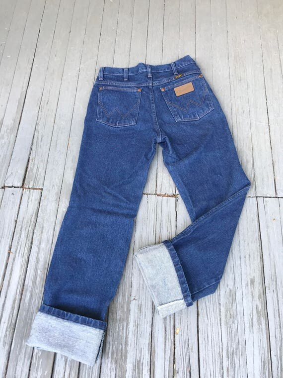 Vintage 70s Wrangler, 70s Wrangler jeans, High Waisted Jeans, vintage denim, 1970s wranglers, high rise Wranglers, western cut jeans, Sz 29