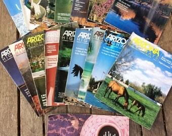 28 Vintage Arizona Highways Magazines, Huge Lot: 1986, 1987, 1988, 1989