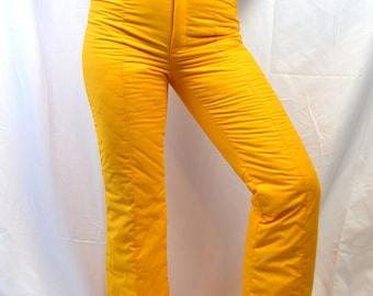 Fun Vintage 80s Ski Yellow Winter Snowsuit Snow Suit Pants - Innsbruck