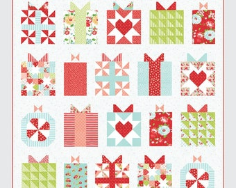 "QUILTING FUN (Quilt Pattern) - ""Handmade with Love"" - Design by Camille Roskelley"