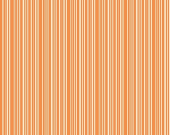 Halloween Fabric - Orange Stripe Fabric - Trick or Treat Fabric - Halloween Quilt Fabric By The 1/2 Yard or Fat Quarter