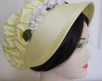 CUSTOM Regency Bonnet. Jane Austen. 'LIZZY' Pride and Prejudice. Your choice of colour/fabric/trims.