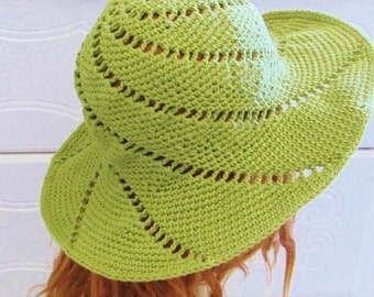 Crochet Sun Hat Pattern, Crochet Hat Pattern, Crochet Brimmed Hat Pattern, Sunsational Sun Hat