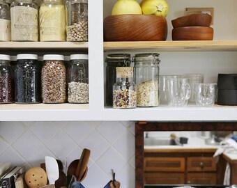 Cork Top Glass Canister // Food Storage Jar