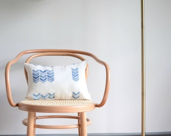 Lumbar Linen Pillow/Custom/Chevron/Zigzag/Ombre/Ivory/Blue/Handmade/New Collection/ZigZag Studio Design