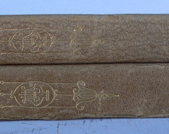 antique books, Poetry, leather bound, book decor, Keats, Shelley, 1895, library filler, from Diz Has Neat Stuff