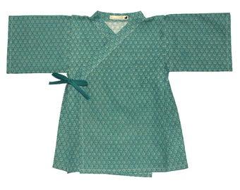 KIMONO ENFANT asanoha turquoise