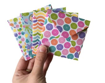 Set of 4 // Mini Square Envelopes // Under The Sea Stationery // Under The Sea Envelope // Mini Envelopes / Square Envelopes // Bright Cards