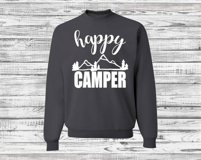 Camping Shirts, Custom Camp Sweatshirt, Outdoor, Camp Shirts, Camper, Bachelorette Road Trip, Camping Trip, Bridesmaid Sweatshirt