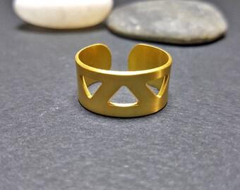 Geometric Ring, Triangle Ring, Geometric Band Ring, Geometric Ring Men, Geometric Rings for Women, Adjustable Band Ring, Triangle Ring Women
