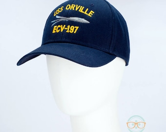 The Orville Hat - USS Orville - Embroidered Geeky Baseball Cap - Naval Hat Inspired