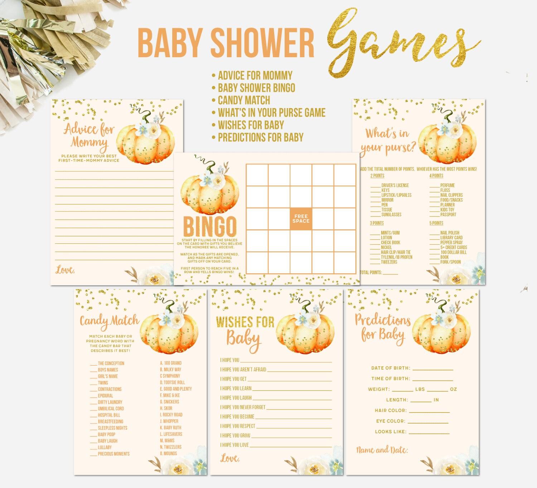 Pumpkin Baby Shower Games Fall Baby Shower Games Baby Shower