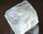 """RESERVED final payment blue fluorite crystal, large 2"""" fluorite octahedron meditation stone, natural fluorite healing crystal, Illinois USA"""