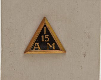 Vintage I 15 AM American Machinist 15 Year Service Bastian Brothers Union Pin Gold; Free Shipping USA