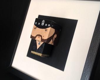 "Figurine ""Lemmy Kilmister Motörhead "" encadrée ."