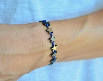 Hematite star bracelet