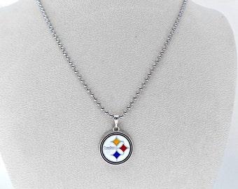 Pittsburgh Steelers, Pittsburgh Steelers Jewelry, Steelers Necklace, Football Jewelry, Football Necklace, Football Mom, Steelers Accessories