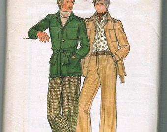 VINTAGE OOP BUTTERICK 4040 Men's ShirtJacket and Pants Size 40
