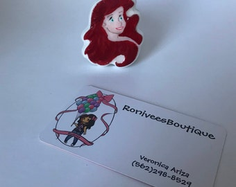 Ariel Brooch Pin Or Magnet