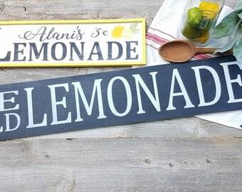 Lemonade Sign - Lemonade Sign Set - Summer Decor - Summer Signs - Lemonade Sign - Lemon Decor - Lemon Signs - Farmhouse Decor - Lemonade