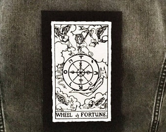 Wheel of Fortune Tarot Card Patch