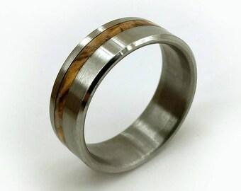 Olivewood Ring, Bethlehem Olive Wood, Exotic Wood Ring, Handmade Ring, Italian Wedding,Olive Wood Ring, Wedding Ring, Grand Junction Guy